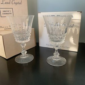 6 goblets W.M. Dalton French Lead Crystal
